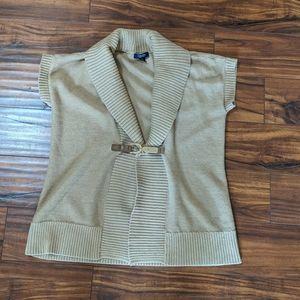 Chaps women's vest brown size XL